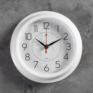 """Часы настенные круглые """"Классика"""", 21 ? 21 см, белые"""