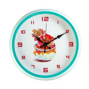 """Часы настенные, серия: Классика, """"Комнатные растения"""", d=30 см, микс 3620958"""