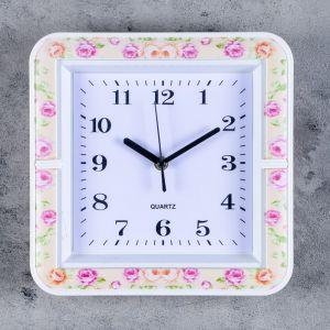 """Часы настенные, серия: Классика, """"Шерил"""", 26х26 см, микс  3620807"""