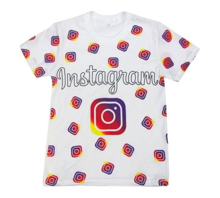 Футболка instagram белый цвет B-FT125-SU / 02007