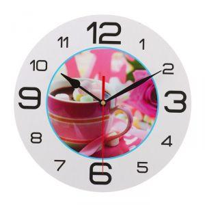 """Часы настенные, серия: Кухня, """"Кофе с пастилой"""", 24 см 3571446"""