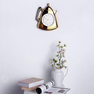 """Часы настенные, серия: Кухня, """"Кофейник"""", золото, 20х25 см 3620825"""