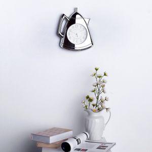 """Часы настенные, серия: Кухня, """"Кофейник"""", серебряные, 20х25 см 3620823"""