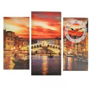 Часы настенные модульные «Мост в Венеции», 60 ? 80 см