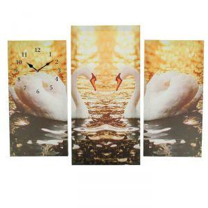 Часы настенные модульные «Пара лебедей», 60 ? 80 см