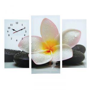 Часы настенные модульные «Цветок на камнях», 60 ? 80 см