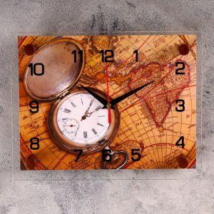 """Часы настенные, серия: Интерьер, """"Карта"""", 20х26 см 2267879"""