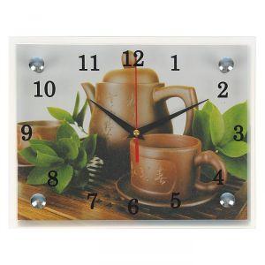 """Часы настенные, серия: Интерьер, """"Японский чайный набор"""", 20х25  см, микс 1236446"""