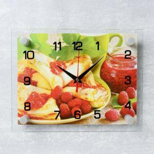 """Часы настенные, серия: Кухня, """"Блинчики с вареньем"""", 20х26 см микс 3979111"""