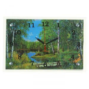 """Часы настенные, серия: Природа, """"Лес и река"""", 20х30  см, микс 1639482"""