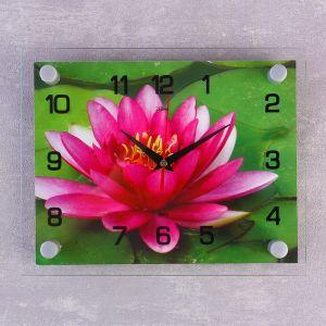 """Часы настенные, серия: Цветы, """"Розовый лотос"""", 20х26  см, микс 888067"""