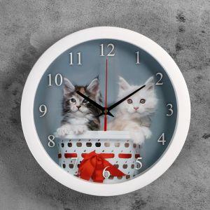 """Часы настенные круглые """"Котята"""", 28х28 см 3967561"""