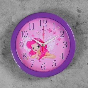 "Часы настенные круглые ""Фея"", Рубин 25х25см 2474422"