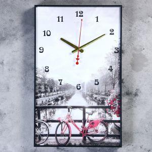 """Часы настенные, серия: Город, """"Романтическая прогулка"""", 37х61 см, микс  4836944"""