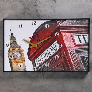 """Часы настенные, серия: Город, """"Символы Лондона"""", 37х60 см 1301249"""