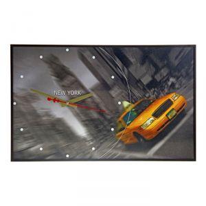 """Часы настенные, серия: Город, """"Такси на Таймс Сквер"""", 37х60 см 1152320"""
