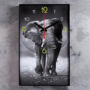 """Часы настенные, серия: Животные, """"Джамбо"""", 37х61 см 4464633"""