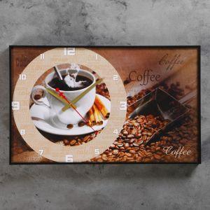 "Часы настенные, серия: Кухня, ""Coffee"", 37х60  см, микс 1192859"