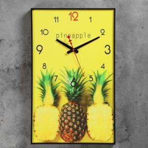 """Часы настенные, серия: Кухня, """"Ананасы"""", 37х60 см 4812332"""
