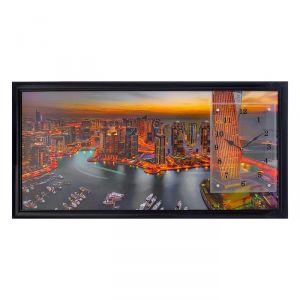 """Часы-картина настенные, серия: Город, """"Дубай"""", 50х100  см, микс 1541484"""