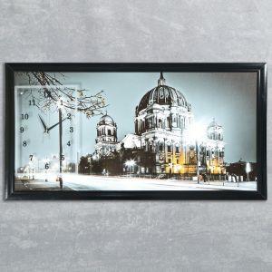 """Часы-картина настенные, серия: Город, """"Ночной Берлин"""", 50х100  см, микс 1210537"""