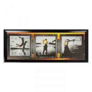 """Часы-картина настенные, серия: Люди, """"Влюбленные на закате"""", 35х100  см, микс 1210500"""