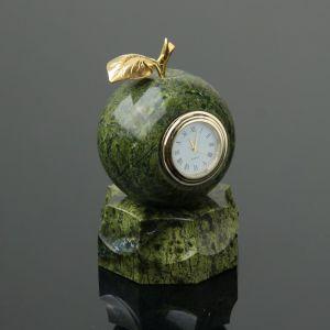 """Часы  """"Яблоко"""", на подставке, 7,5х13 см, змеевик 4204311"""