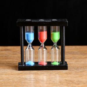 Часы песочные тройные на 3,4,5 минут, микс, 3х9 см 1262039