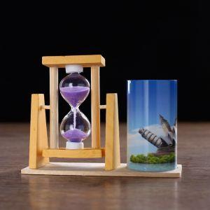 """Часы песочные """"Достопримечательности"""" с карандашницей, 12.5х4.5х9.3 см микс  4727124"""