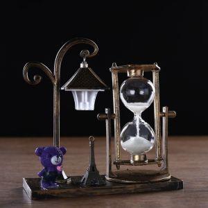 """Часы песочные """"Уличный фонарик"""" с подсветкой, 15.5х6.5х15.5 см, микс 3488507"""