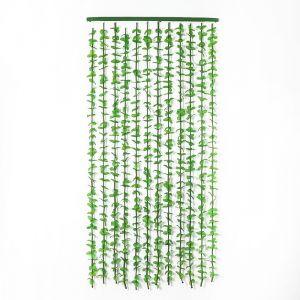 """Занавеска 90?175 см """"Листики"""", 12 нитей, цвет зелёный"""