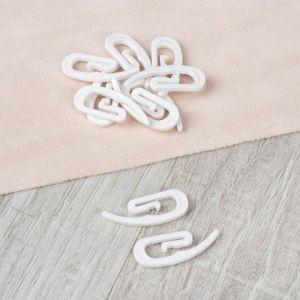 Крючок для штор «Улитка», 3,1 ? 1,2 ? 0,2 см, 10 шт, цвет белый