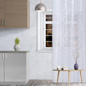 Штора кухонная арт.М436а 145х250 см, цвет белый, пэ 100%   4021214