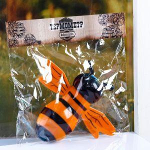 """Пластиковый термометр оконный """"Пчела"""" в пакете   4444055"""