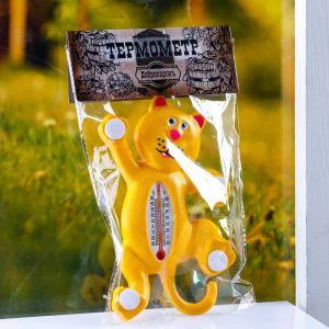 """Пластиковый термометр оконный """"Тигр""""в пакете   4444061"""