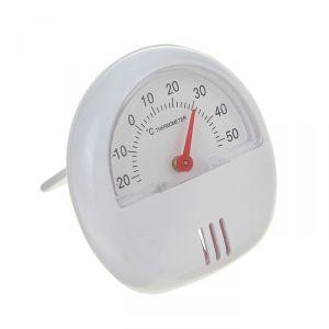 Термометр механический универсальный, крепление магнит, пластик белый, d 5.5 см 1430095