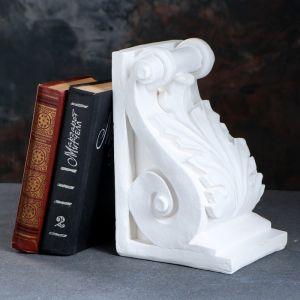 """Подставка для книг """"Абстракция"""", белый 25см 1659348"""