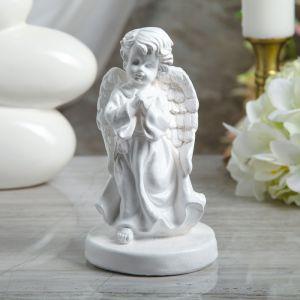 """Сувенир """"Молящийся ангел в платье"""" 18 см, белый"""