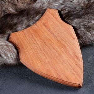 Медальон для охотничьих трофеев «Щит», некрашеная, 28х19 см, массив бука