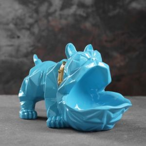 "Подставка под мелочи ""Английский бульдог"" голубой 30х14х16,5см 4832886"