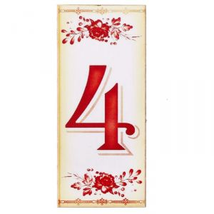 """Цифра дверная из дерева """"4"""", букет, 3*7 см   2190130"""