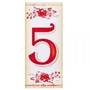 """Цифра дверная из дерева """"5"""", букет, 3*7 см   2190131"""
