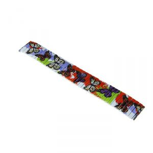 Ремешок для часов 18 мм, металл, рисунок бабочки, 15 см 1723644