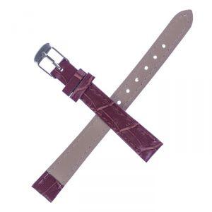 Ремешок для часов, 12мм, экокожа, фактура рептилия, 19см, коричневая 1268494
