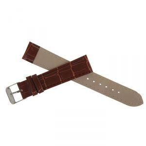 Ремешок для часов, 18мм, экокожа, фактура рептилия, коричневый, 19см 1268497