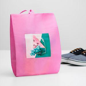 """Мешок для обуви """"Лето""""  Розовый  4452160"""