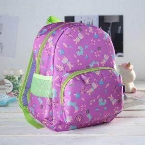 Рюкзак детский, отдел на молнии, наружный карман, 2 боковые сетки, дышащая спинка, цвет сиреневый