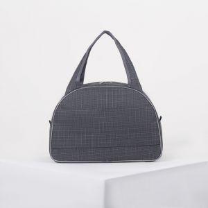 Сумка дорожная, отдел на молнии, держатель для чемодана, цвет тёмно-серый