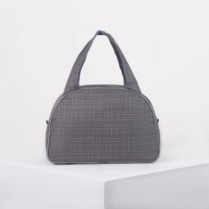 Сумка дорожная, отдел на молнии, держатель для чемодана, цвет серый