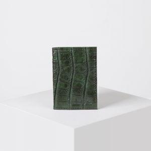 Визитница вертикальная, 1 ряд, 18 листов, цвет зелёный